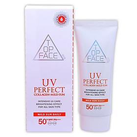Kem chống nắng UV PERFECT Collagen Mild Sun ARRATOPFACE Hàn Quốc 70ml