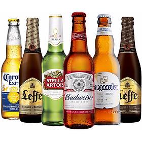 Lốc 6 chai bia Beers of the world (Leffe, Hoegaarden, Corona, Budweiser, Stella Artois)