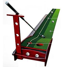 Thảm tập Golf Putting Gỗ 350x30cm