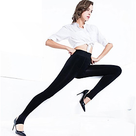 Antarctic men's pants under the waist of the waist in the waist and cashmere in the seamless seamless pants pants inside and outside wear thin female warm pants NYZ6027 black uniform