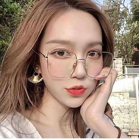 Kính mát thời trang Unisex cao cấp gọng vuông chống tia UV kiểu dáng Retro Hàn Quốc - Kính râm nữ 009-1