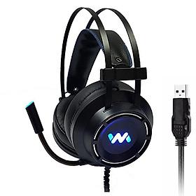 Tai nghe gaming Wangming WM9800 7.1 USB LED (Đen) - Hàng chính hãng
