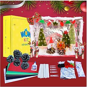 Hộp thủ công sáng tạo Wow Kit Holiday: Chủ đề Ngôi làng Giáng Sinh, rèn luyện khả năng phát triển tư duy sáng tạo và trí tưởng tượng của trẻ (phù hợp cho trẻ từ 5 – 14 tuổi)