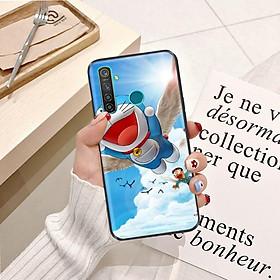 Ốp lưng điện thoại Realme 5 Pro viền silicon dẻo TPU  hình Doremon Phiêu Lưu - Hàng chính hãng