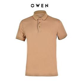 OWEN - Áo Polo nam ngắn tay Owen màu cam nude 23063 - Áo thun có cổ nam