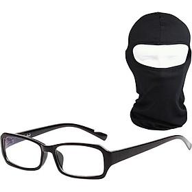 Bộ Kính Giả Cận Và Khăn Trùm Ninja - Đen