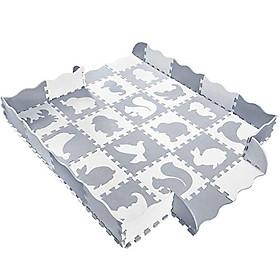 Set 36 Tấm Thảm Xốp Ghép Chất Liệu EVA Dùng Lót Sàn Cho Bé - Hình Động Vật,  Kích Thước 30x30x1.2 cm