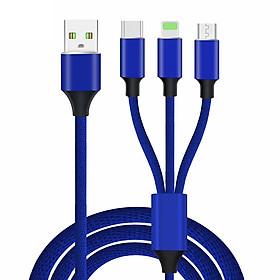 Dây Cáp Sạc Nhanh 3 Trong 1 Lightning / Type-C / Micro USB