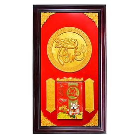 Lịch gỗ phù điêu chữ Phúc - SK015