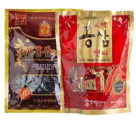 Combo kẹo Hồng sâm và kẹo Hắc sâm Hàn Quốc