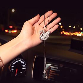 Dây treo gương xe hơi nước hoa thiên nga, chống say xe, khử mùi xe hơi