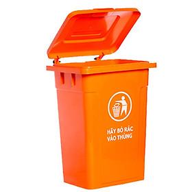 Hình ảnh Thùng rác nhựa 90 lít màu cam