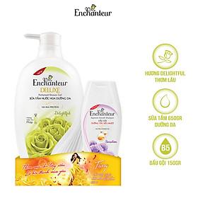 Sữa tắm nước hoa Enchanteur Charming/ Sensation/ Romantic/ Magic/ Delightful 650g - Tặng dầu gội Enchanteur 150g