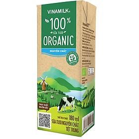 [Chỉ Giao HCM] - Sữa tươi tiệt trùng Vinamilk 100% Organic - hộp 180ml