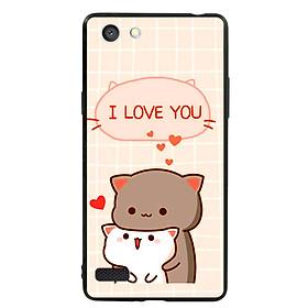 Ốp lưng viền TPU cho điện thoại Oppo Neo 7 - I Love U