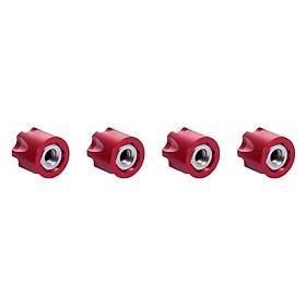 4PCS RC Car Wheel Rim Center Cap M4 Nut Metal For 1/10 RC CraWler Traxxas HSP Redcat Rc4Wd Tamiya Axial SCX10 D90 HPI