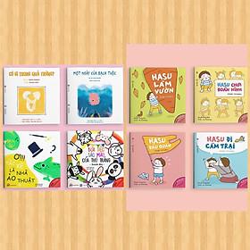 Combo Ehon Nhật Bản :  Sự kỳ diệu của màu sắc + Những Câu Chuyện Kỳ Lạ Của Hasu + Poster An Toàn Cho Con Yêu Quy Tắc 5 Ngón Tay (Bộ Sách Nuôi Dưỡng Tâm Hồn Cho Bé 0 - 6 Tuổi)