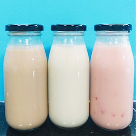 Sét 6 chai thủy tinh đựng nước ép, sữa hạt  cao cấp_250ml