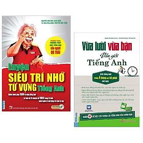 Combo Sách Học Tiếng Anh Thông Minh : Luyện Siêu Trí Nhớ Từ Vựng Tiếng Anh + Vừa Lười Vừa Bận Vẫn Giỏi Tiếng Anh ( Tặng Kèm Bookmark Happy Life)