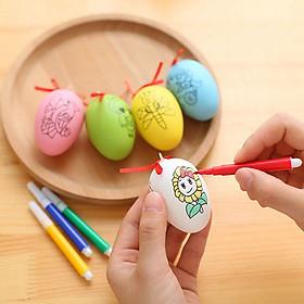 Trứng tô màu kèm 4 bút dạ
