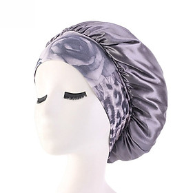 Womens Satin Night Beauty Salon Sleep Caps Shower Hats Curly Springy Hair Bonnet Cover Silk Head Wide Elastic Band Chemo Cap
