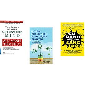 Combo 3 cuốn sách:  Sức Mạnh Tiềm Thức + 12 tuần phóng thích năng lượng sáng tạo + Cú đánh thức tỉnh trí sáng tạo