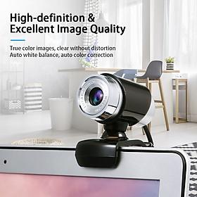 Hướng dẫn sử dụng Webcam 480P USB Máy ảnh máy tính không ổ đĩa có ổ cắm âm thanh 3.5mm cho máy tính xách tay trong suốt