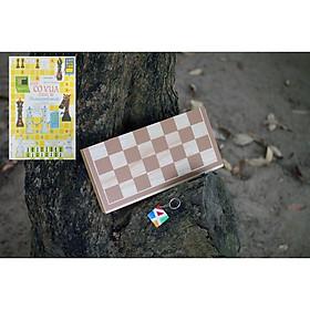 Đồ chơi thông minh cho bé, cờ vua bằng gỗ tiêu chuẩn quốc tế giúp phát triển trí tuệ cho trẻ em - Kèm các chiến thuật cờ vua