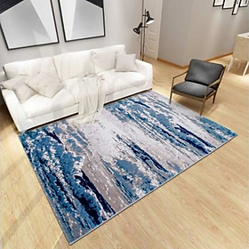 Thảm Trang Trí Phòng Khách Và Sofa Lông Ngắn BA003 - Blue Art
