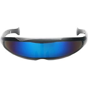 Futuristic Narrow Lens Visor Eyewear Sunglasses