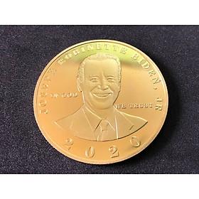 Xu lưu niệm Biden màu vàng, chất liệu Niken mạ, dùng để sưu tầm, trưng bày bàn sách, bàn tiệc, làm quà tặng - TMT Collection.com - SP005091