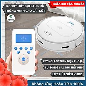 ROBOT Hút Bụi Lau Nhà Tự Động Siêu Thông Minh XSmart Bowai OB11 Premium Có App Điều Khiển, Auto Sạc Pin Làm Sạch Sàn Lông Tóc Hàng Chính Hãng