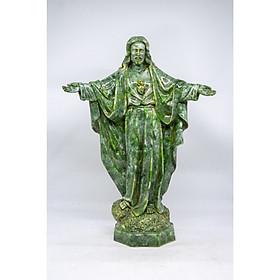 Tượng chúa Giêsu đứng dang tay bằng đá xanh