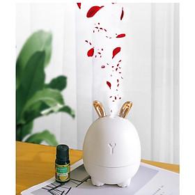 Máy phun sương hơi nước tạo ẩm hình tai thỏ có đèn Led Humidifier & Rabbit