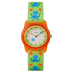 Đồng Hồ Trẻ Em Dây Vải Timex Kidz Analog Octopus TW7C13400 (28mm) - Mặt Đỏ