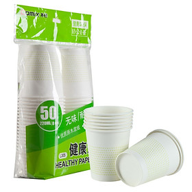(Comix) 50 loaded 220ml 8 ounces thick one-time cup / paper cup office stationery L305