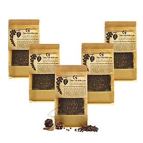Combo 5 Túi Tiêu hạt Đăk Lăk GUfoods [mỗi túi 200g]