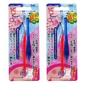 Combo 2 Set 2 dao cạo lông mày lưỡi ngắn KAI nội địa Nhật Bản