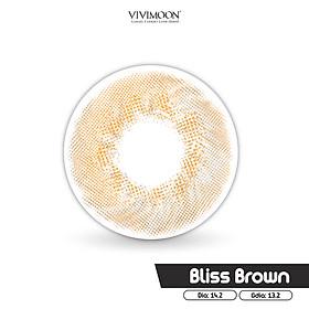 Kính áp tròng Hàn Quốc màu nâu VIVIMOON Bliss Brown 13.2 mm