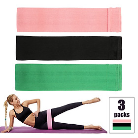 3pcs/set 60-120LB Resistance Bands Set Pull Rope Cotton Elastic Bands for Fitness Gym Equipment Exercise Yoga Workout