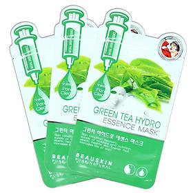 Hình đại diện sản phẩm Bộ 3 Mặt nạ Trà xanh Beauskin Green Tea Hydro Essence Mask - 30gx3