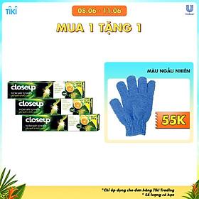 Combo 3 Kem Đánh Răng Dạng Gel Sạch Khuẩn Closeup Thơm Mát Tự Nhiên Dầu Quất & Thảo Dược 230G
