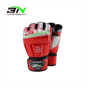 Găng tay MMA hở ngón BN, thiết kế GỌN GÀNG, thoải Mái, CHỐNG SHOCK TỐT, thích hợp luyện tập, đối kháng