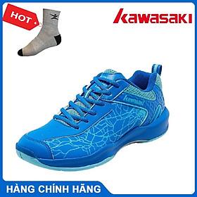 Giày cầu lông Kawasaki K081-XA đế kếp chơi được mọi mặt sân, dành cho nam và nữ, đủ size - Tặng kèm tất thể thao Bendu