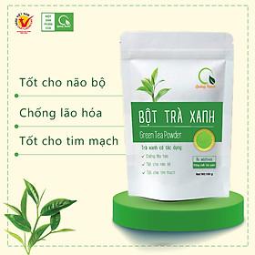 Túi 100g Bột Trà Xanh Quảng Thanh sấy lạnh - 100% búp trà tươi, không chứa chất bảo quản, ngăn ngừa lão hóa, tốt cho não bộ, tim mạch