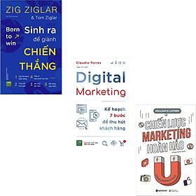 Combo 3 Cuốn Sách : Sinh Ra Để Giành Chiến Thắng + Digital Marketing - Kế Hoạch 7 Bước Để Thu Hút Khách Hàng + Chiến Lược Marketing Hoàn Hảo