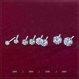 khuyên tai nụ đá bạc s925 đơn giản dành cho cả nam và nữ cá tính