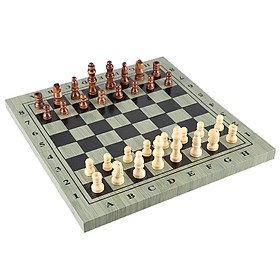 International Chess Set Portable Wooden Chessboard Chess Game For Travel Party Family Activities