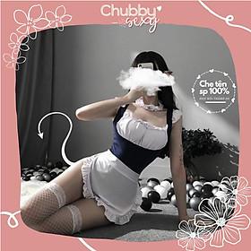 Cosplay Thuỷ Thủ Mặt Trăng - Set đồ cosplay thuỷ thủ bikini xanh băng đô trắng cực sexy quyến rũ - CPL13 - Chubby.Sexy
