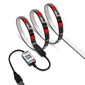 2m LED Color Changing Strip Lights LED TV Backlight USB RGB Strip Light with BT Smartphone APP Controller LED Tape Strip - Black